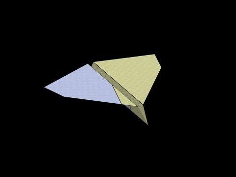 Clipper Paper Airplane: 3D Folding