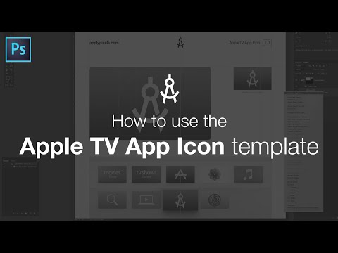 How to use the Apple TV App Icon Template