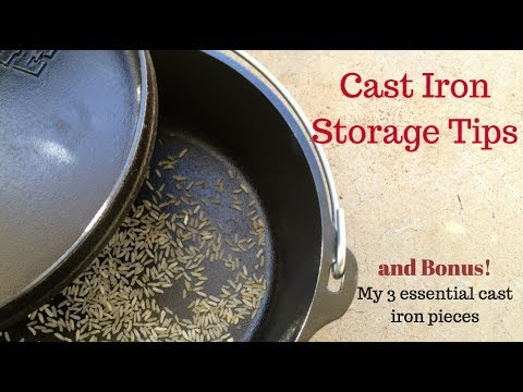 Cast Iron Storage Tips plus My 3 Essential Cast Iron Pieces