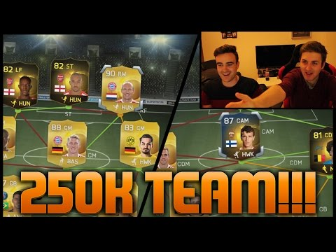 THE BEST 250K TEAM ON FIFA 15!!! Fifa 15 Dual Hybrid Squad Builder