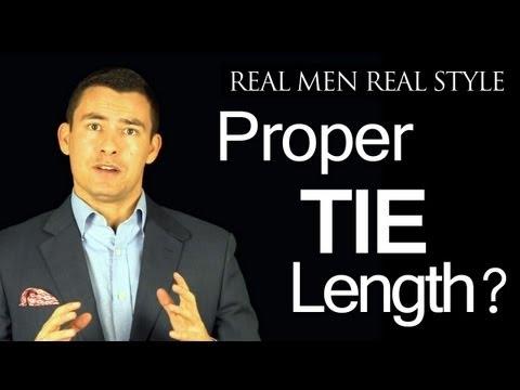 Proper Tie Length - Where should the necktie tip fall?  Proper Tie Length