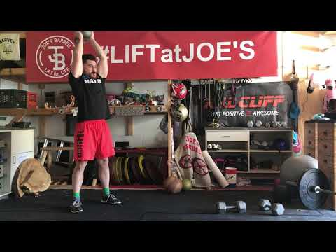 Standing Kettlebell Tricep Extensions