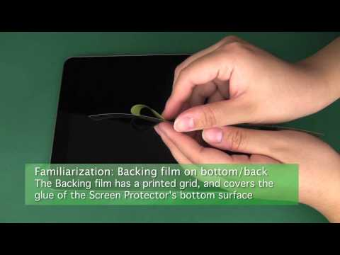 Universal Tablet Screen Protector Trimming and Installation Tutorial Part 1 of 3