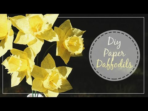 How To Make Crepe Paper Daffodils