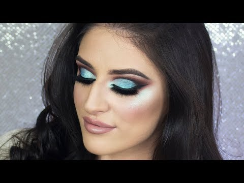 POP OF COLOR Turquoise Half Cut Crease Eyeshadow Tutorial
