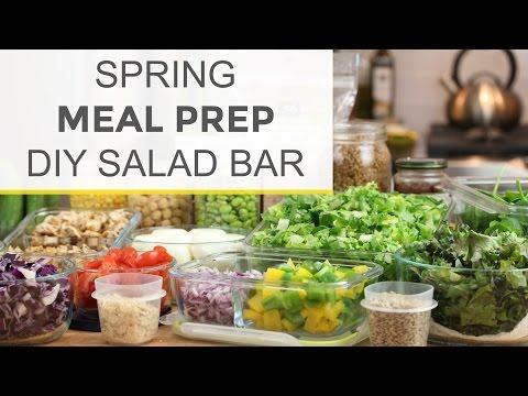How To Meal Prep for Spring | DIY Salad Bar