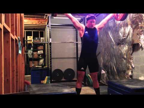 270kg Total, 121 kg Snatch, 149 kg Clean and Jerk