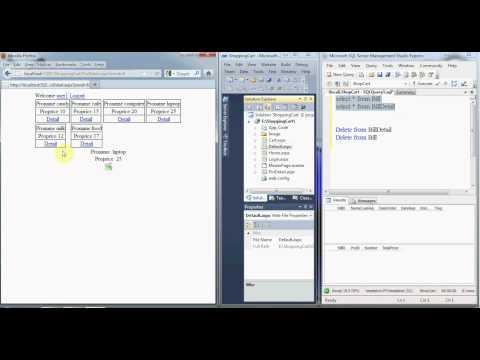 ShoppingCart using GridView in ASP.net code VB.avi