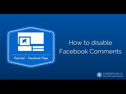 How to disable comments on a Facebook Page