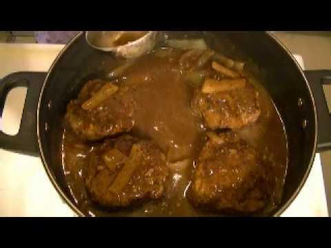 Salisbury steak with homemade gravy