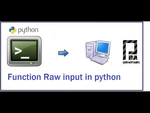 Example Function raw_input in python Windows : PDA_Control