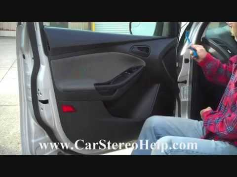 How to Ford Focus Front Door Speaker speakers Removal 2012 - 2015 replace