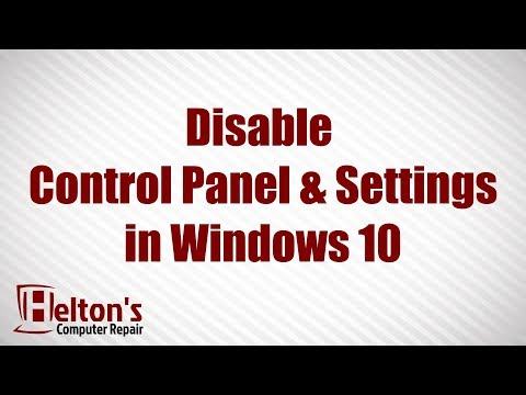 Disable Control Panel and Settings in Windows 10