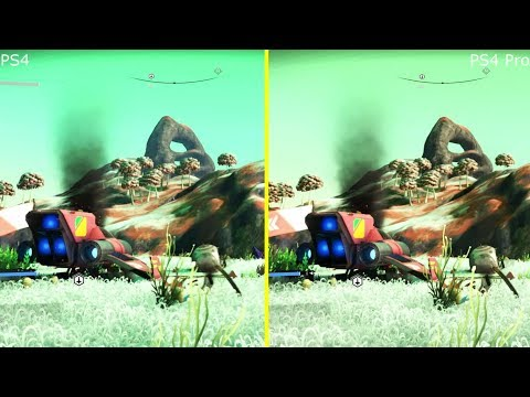 No Man's Sky 1.32 Atlas Rises Patch PS4 vs PS4 Pro Graphics Comparison