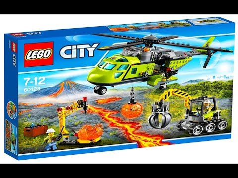 Lego City 60123 Volcano Supply Helicopter   Lego Speed Build
