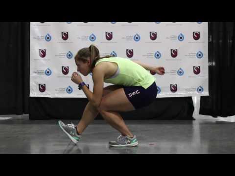 US Speedskating Drills -  Leg Throughs
