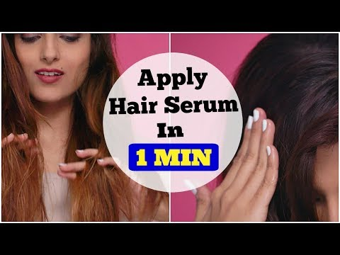 Apply Hair Serum PERFECTLY In 1 MIN For Frizz Free Hair & Shiny Hair / Quick and Easy Tips & Tricks