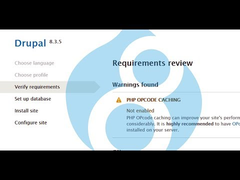 How To Install Drupal8 - how to fix PHP OPcode caching and Trusted Host error in Drupal 8