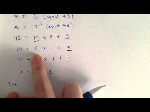 Extended Euclidean Algorithm and Inverse Modulo Tutorial