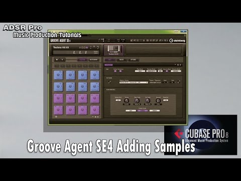 ADSR Pro Groove agent SE4 adding samples and creating layers Cubase 7.5