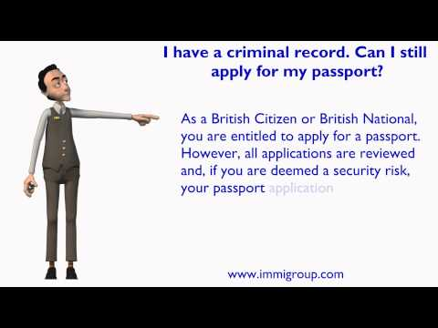 I have a criminal record. Can I still apply for my passport?