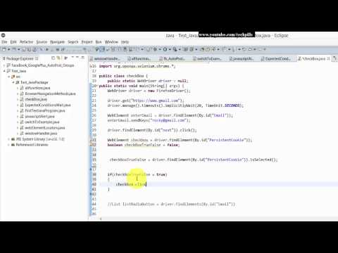 Step by Step Selenium Tutorial with JAVA - check or uncheck the checkbox with IF condition - P14
