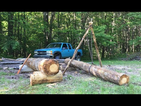 BUILDING A LOG DRYING RACK - PART 3 - A DAY OF SETBACKS