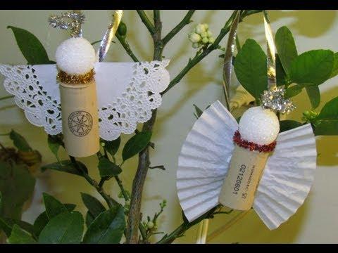 How to make Cork Angel Ornament DIY Ornament Craft #8