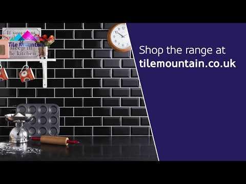 Quick Look: Mini Metro Black Wall Tile (435545) - Tile Mountain