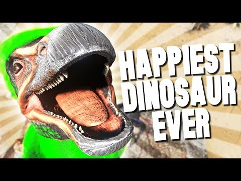 HAPPIEST DINOSAUR IN THE WORLD! - Ark Survival Evolved (Modded)