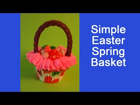 Easy to Make Easter Basket Cupcakes