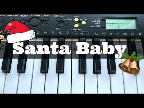 Santa Baby | Easy Keyboard Tutorial With Notes (Right Hand)