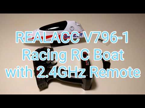 REALACC V796-1 Racing Boat Remote Control Boat, Up to 25km/h
