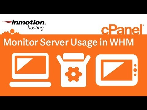 Monitor server usage in WHM