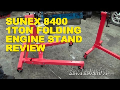 Sunex 8400 1 Ton Folding Engine Stand Review -EricTheCarGuy