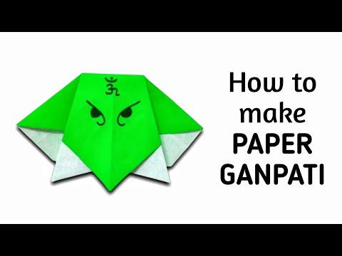 How to make simple & easy paper ganpati / ganesha | DIY Paper Craft Ideas, Videos & Tutorials.