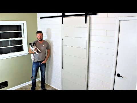 The $40 Modern Barn Door - Easy DIY Project