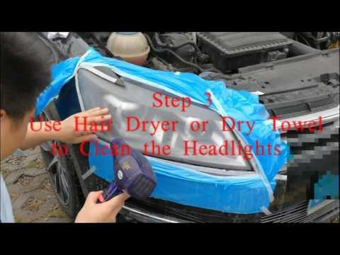 Scratched headlights renew restoration