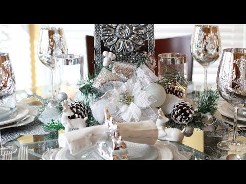 Dollar Tree Centerpiece DIY|Winter Wonderland