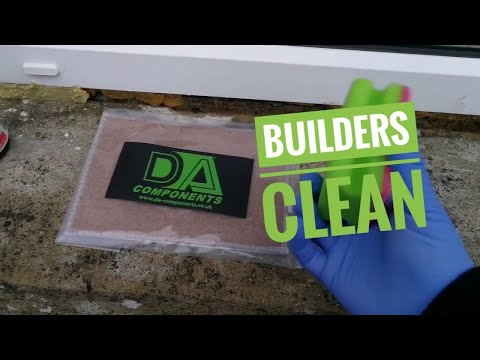 Builders clean/Cleaning new windows