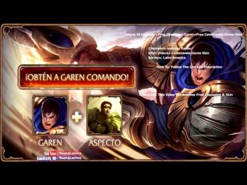 FREE Champion & Skin - Commando Garen Skin - LoL