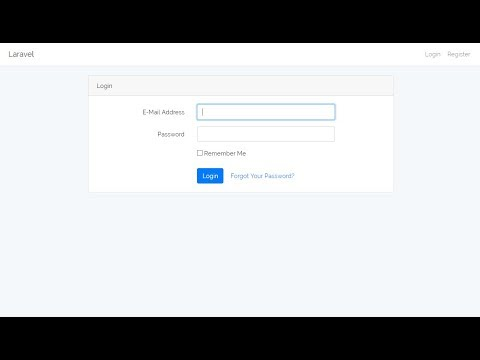 Generate Login and Register - Auth with Laravel [Part 9]