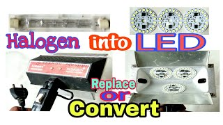 How To Replace/Convert Halogen Video Light Into LED Video Light, or Sungun 1000W Light Convert LED.