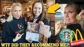 I only ate what the WAITER/WAITRESS recommended me for 24HOURS!