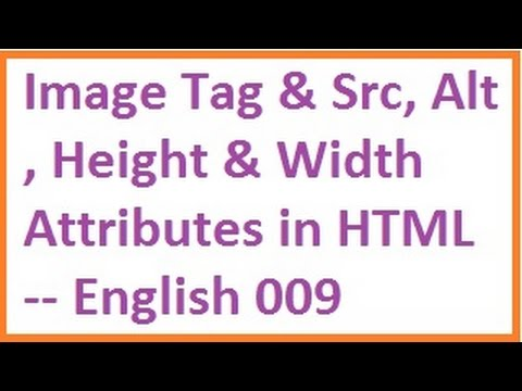 Image Tag and Src, Alt, Height and Width Attributes in HTML -- English-vlr training
