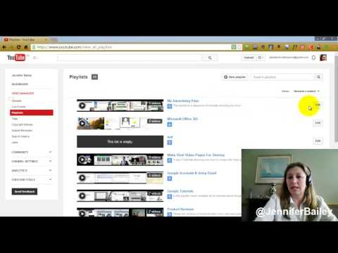 How To Delete a YouTube Playlist | 2014 (Tutorial)