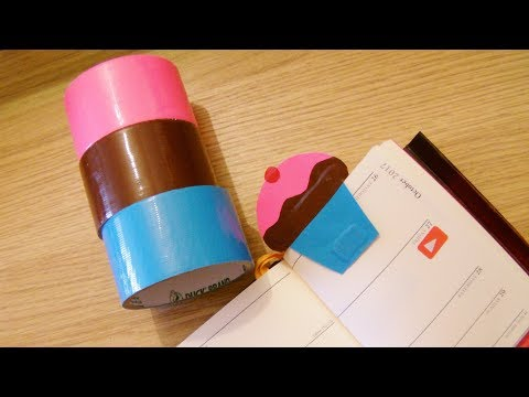 How To Make A Duct Tape Cupcake Magnetic Bookmark