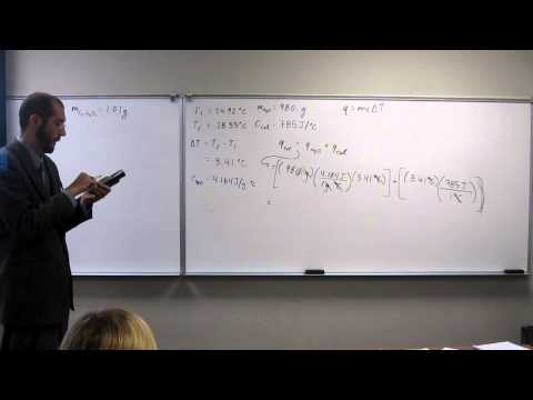 Calculate the Heat of Combustion (qtotal) Using a Bomb Calorimeter 006