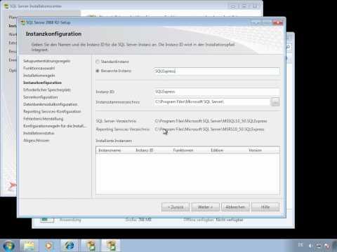 SQL Server Express 2008 R2 Installation Deutsch