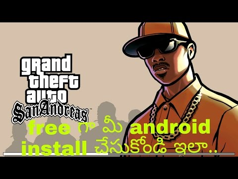 How to install gta sanandreas in Android in Telugu